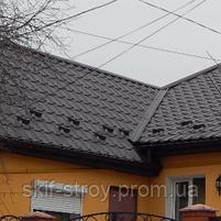 Металлочерепица Афина 0,45мм матовый  полиэстр US Steel Kosice Словакия, фото 10