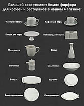 Чашка с блюдцем фарфоровая 200мл Lubiana ПАУЛА 1702/1712, фото 3