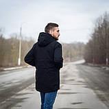Чоловіча демісезонна куртка Y.L.Z, чорноного кольору, фото 4
