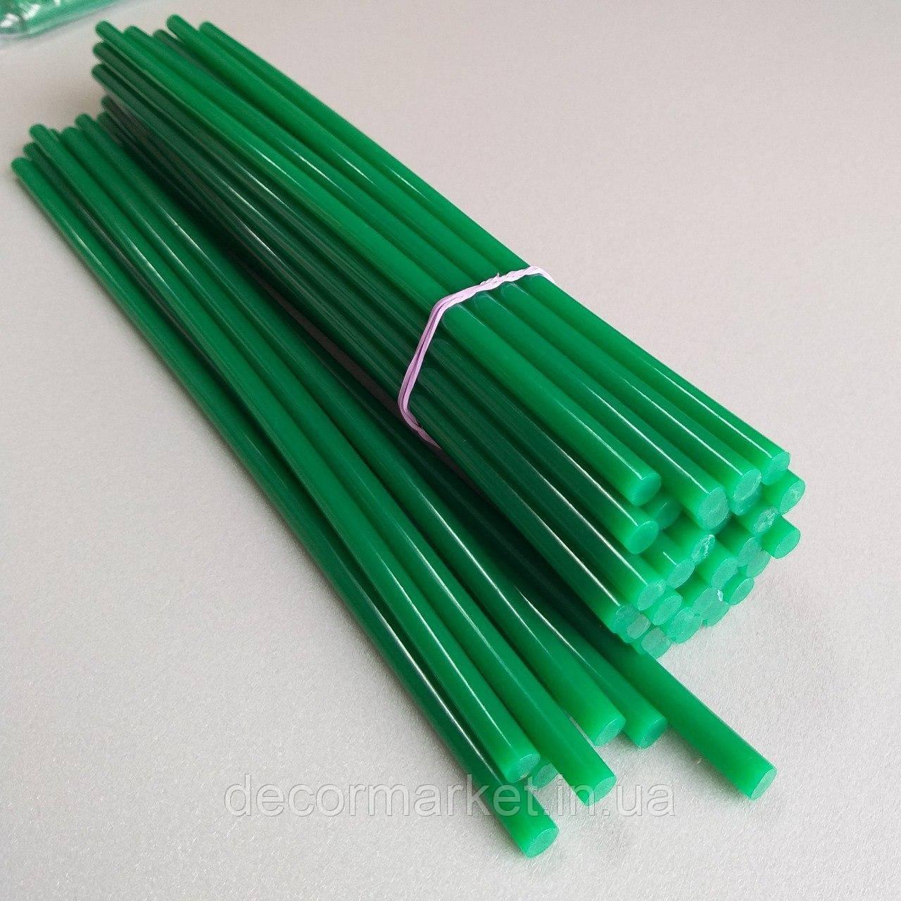 Клей 7мм зеленый силиконовый стержни для термопистолета
