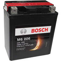 Мото Аккумулятор  BOSCH M6 006 (YTX7L-4, YTX7L-BS) 12v 6Ah 100A