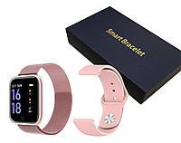 Фитнес браслет Smart Watch AIR Розовые