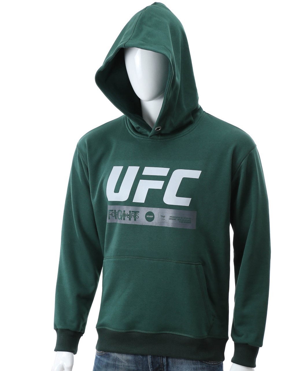 Худи т зеленый UFC FIGHT с лого Т-2 DGRN L(Р) 20-471-201