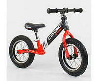 Беговел, велобег CORSO 83712, стальная рама, колесо 12«, надувные колёса