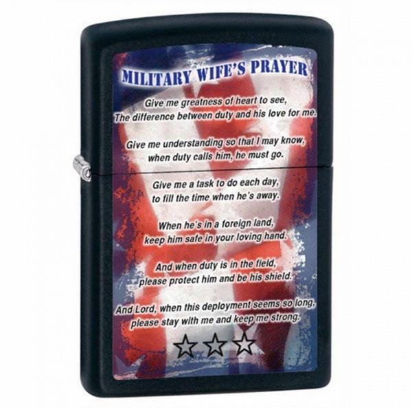 Зажигалка Zippo Military Wifes Prayer, 28315