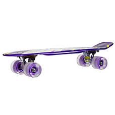 Скейтборд пластиковый Penny SK-881-11 с рисунком 56х15см, фиолетовый, фото 3