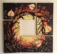 Картина модульная из янтаря, картина модульна з бурштину