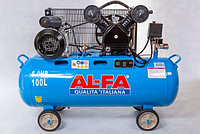 ✔️ Компрессор AL-FA ALC-100-2   /  100L  (2-x поршневый масляный блок )
