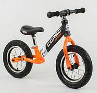 Беговел, велобег CORSO 24846, стальная рама, колесо 12« надувные колёса