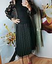 Женская юбка плисе с фатином черная, фото 4
