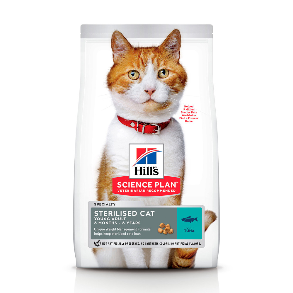 HILL'S SCIENCE PLAN Young Adult Sterilised Cat Сухий Корм для Котів з Тунцем - 300 г