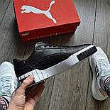 Чоловічі кросівки Puma Select Cali чорні з білим. Живе фото. Репліка, фото 2