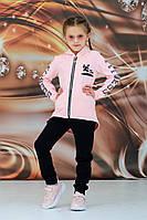 Спортивный детский костюм для девочки на рост 104 по 140 см турецкая петля, фото 1