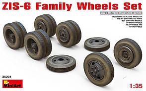 Семейство колёс для ЗИС-6. 1/35 MINIART 35201