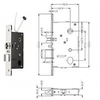 Электронный замок Lock SL-7731S Black+ 10 карт доступа в подарок, фото 2