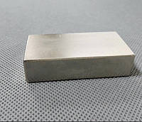 Прямоугольный неодимовый магнит 80х40х15 мм, сила сцепления 90 кг, N42