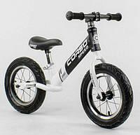 Беговел, велобег CORSO 10234, стальная рама, колесо 12«, надувные колёса