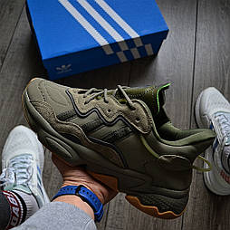 Мужские кроссовки Adidas Ozweego Khaki 41-45р. Живое фото. Реплика