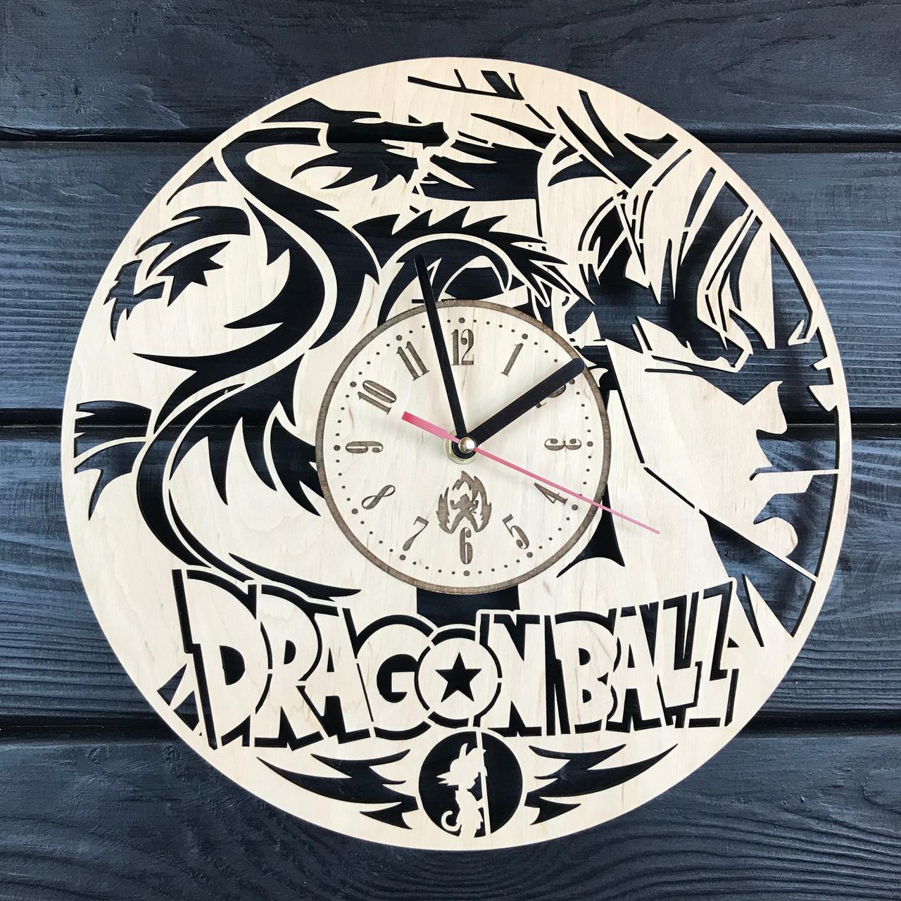 Необычные деревянные часы в интерьер «Dragon Ball»