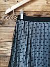 Женская юбка плисе с фатином серая, фото 2