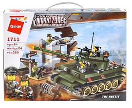 """Конструктор для мальчиков Brick/Qman 1711 """"Атака танка"""", 380 деталей"""