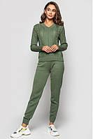 Вязаный костюм «Мелиса» - Оливковый, фото 1