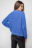 Вязаный свитер «Злата» с люрексом - васильковый, фото 2