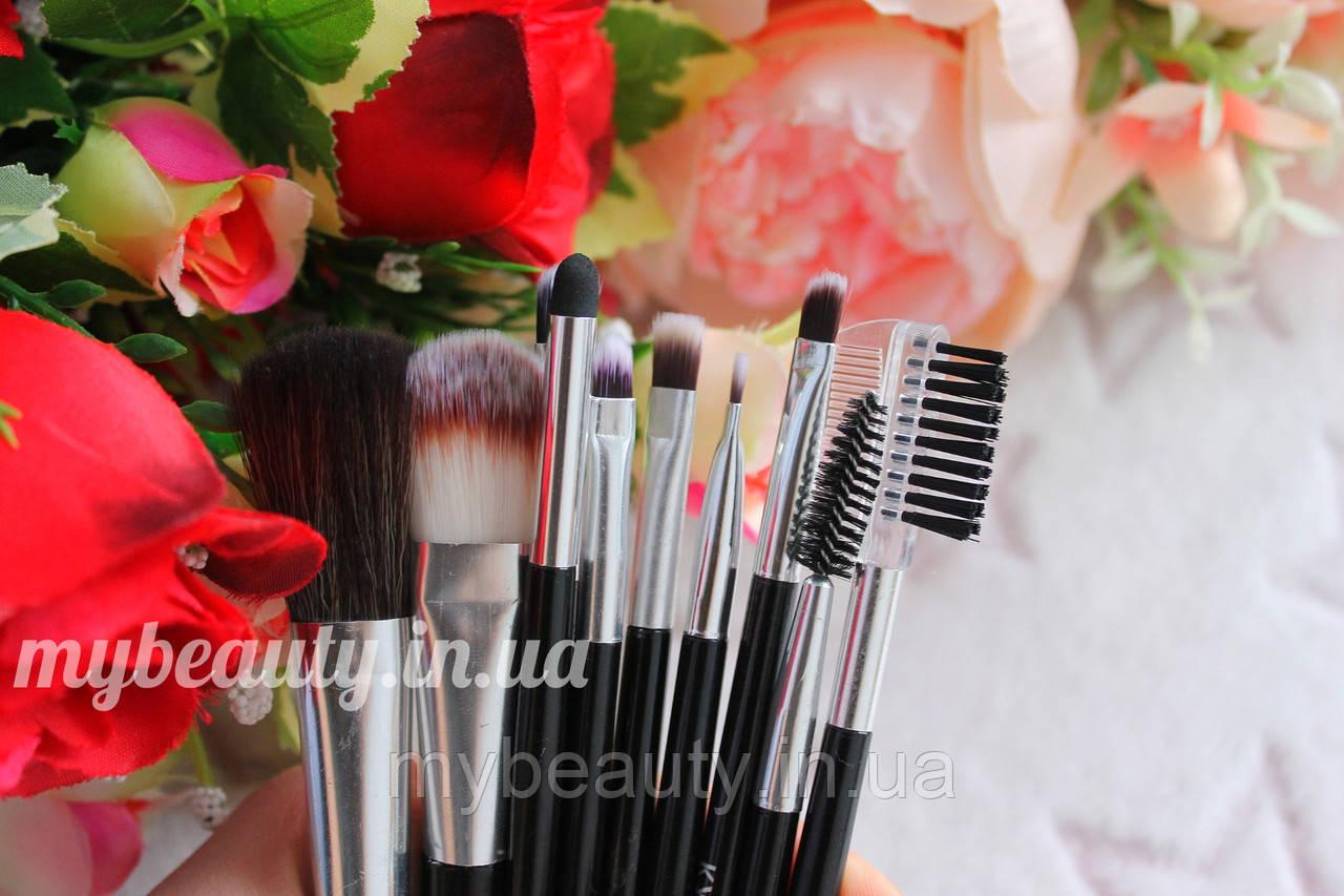 Набір пензликів для макіяжу з 10 інструментів