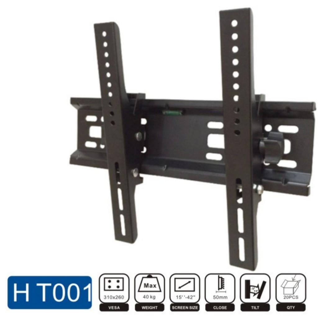 Плоский настенный держатель с наклонном для телевизора HT-002