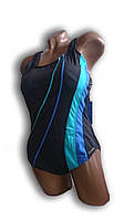 Купальник женский для бассейна. Rivage Line. Серый. 8949, фото 1