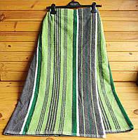 Килт-парео махровый 90х150 см  серо-зеленый