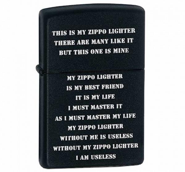 Зажигалка Zippo Creed Black Matte, 24710