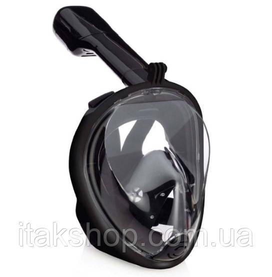 Маска для дайвинга и подводного плавания (сноркелинга) Tribord Easybreath Оригинал (Черный)