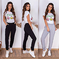 Весенние женские спортивные штаны брюки в расцветках S (42) M (44) L (46)