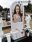 Детский памятник для девочкис книгой и двумя ангелочками, фото 2