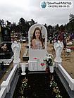Детский памятник для девочкис книгой и двумя ангелочками, фото 3