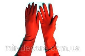 Перчатки резиновые хозяйственные 40см зима