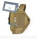 Кобура поясная для пистолета ПМ цвет оливковый, койот (песочный), материал - кордура, фото 4