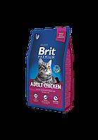 Сухой корм Brit Premium Adult Chicken для взрослых кошек с курицей 8 кг