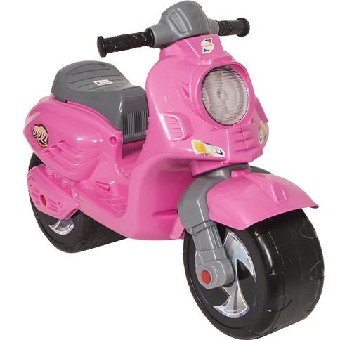 Скутер беговел Орион розовый