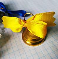 Колокольчик Выпускника золотой с ленточкой, фото 1