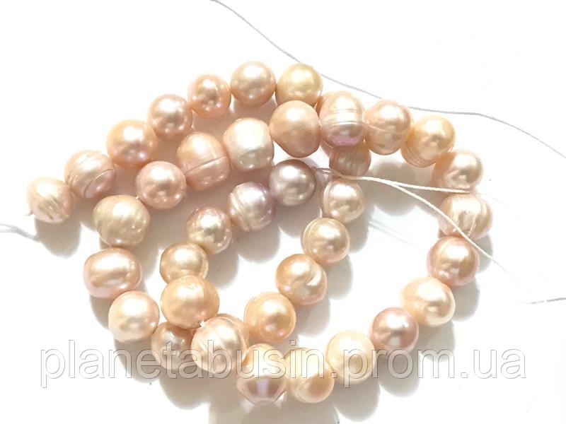 10 мм Розовый Жемчуг,  Натуральный камень, бусины, Форма: Шар, Длина: 35 см