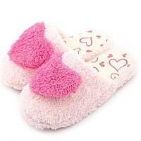 Тапочки-шлепанцы комнатные с сердечком размер 40-41 розовые GS699-2