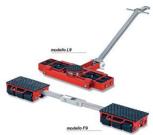 Комплект подкатных транспортних візків для перевезення важких трансформаторів і котлів F9, L9 GKS-Perfekt