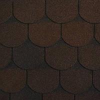 Битумная черепица плитка RUFLEX ORNAMI Темный шоколад