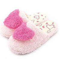 Тапочки-шлепанцы комнатные с сердечком размер 38-39 розовые GS699-1, фото 1