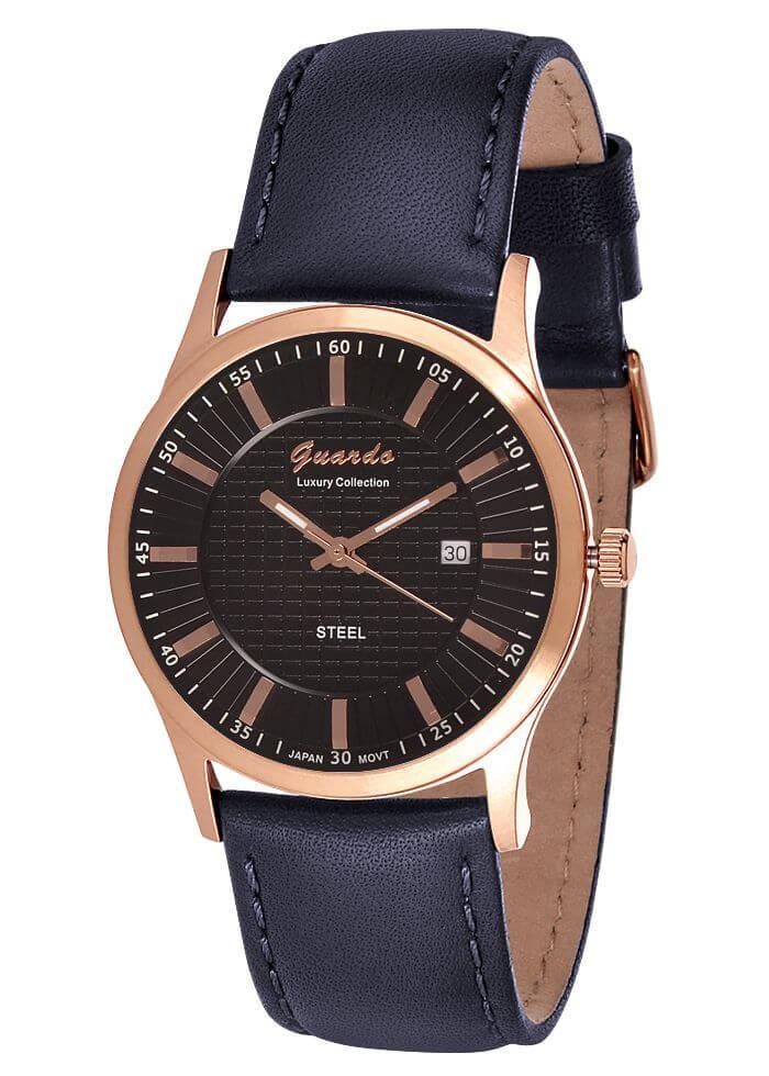 Часы мужские Guardo S1524-4 розовое золото