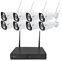 Комплект видеонаблюдения беспроводной 1080P UKC CAD-6678 WiFi на 8 камер (5519)