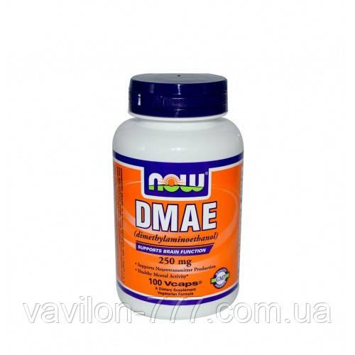ДМАЕ Now Foods, 250 мг, 100 рослинних капсул
