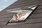 Мансардні вікна ПВХ Roto Designo WDF R75 K WD AL Мансардные окна, фото 8